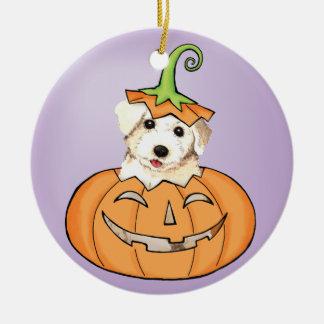 Halloween Bichon Ceramic Ornament