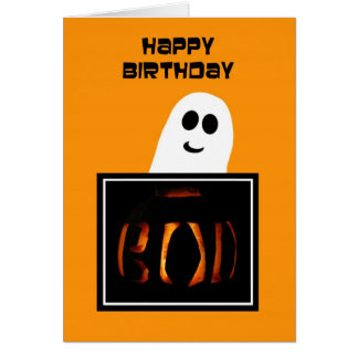 Halloween Birthday Card -- Spooky Good