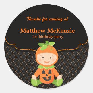 Halloween birthday costume classic round sticker