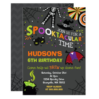 Halloween Birthday Invitation Spooktacular Party