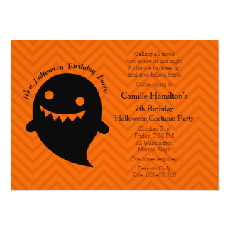 Halloween Birthday Party Card