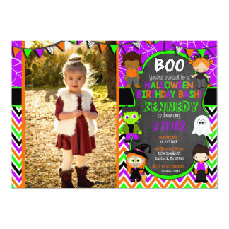 Halloween Birthday Party Invitation with Picture