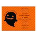 Halloween Birthday Party Personalised Announcement