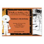 Halloween Birthday Personalised Announcement