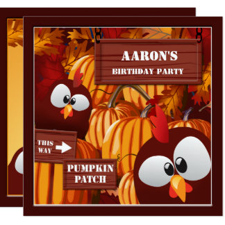 Halloween Birthday Pumpkin Patch Kid's Card