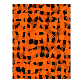 Halloween black and orange background 21.5 cm x 28 cm flyer
