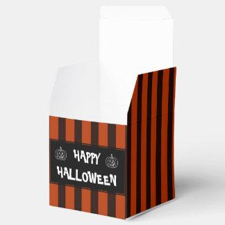 Halloween Black and Orange striped Favour Box