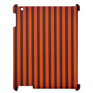 Halloween Black and Orange striped iPad Cover