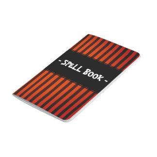 Halloween Black and Orange striped Journal