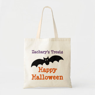 Halloween Black Bat Personalised Treat Bag