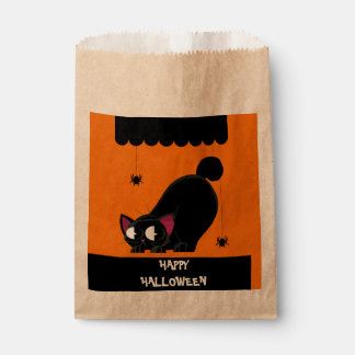 Halloween Black Cat and Spider Favour Bag