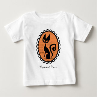 Halloween Black Cat Cameo Baby T-Shirt