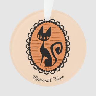 Halloween Black Cat Cameo Ornament