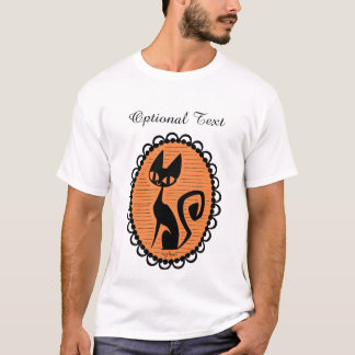 Halloween Black Cat Cameo T-Shirt