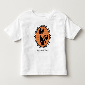 Halloween Black Cat Cameo Toddler T-Shirt