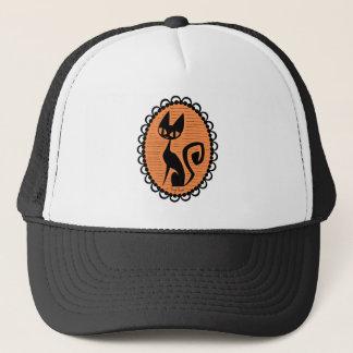 Halloween Black Cat Cameo Trucker Hat