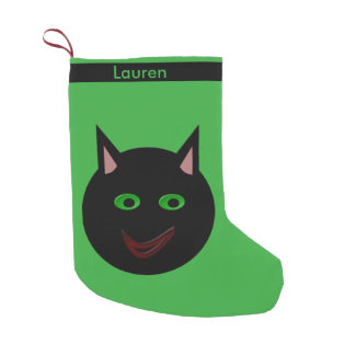 Halloween Black Cat Custom Stocking