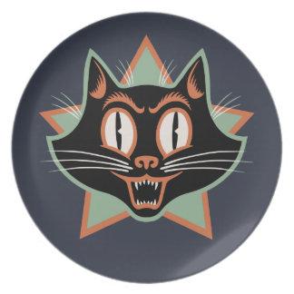Halloween Black Cat Dinner Plate