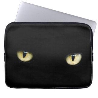 Halloween Black Cat Eyes Laptop/ MacBook Sleeve