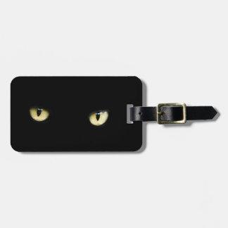Halloween Black Cat Eyes Luggage Tag