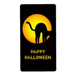 Halloween Black Cat Happy Halloween Label Shipping Label