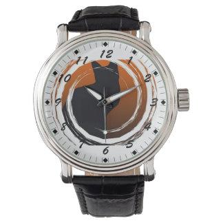 Halloween Black Cat in Spiral Design Watches