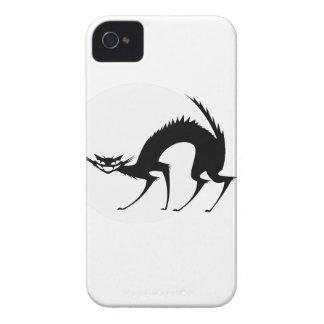 Halloween Black Cat in the Moonlight iPhone 4 Case