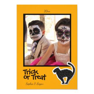 Halloween Black Cat Photo Frame- Card