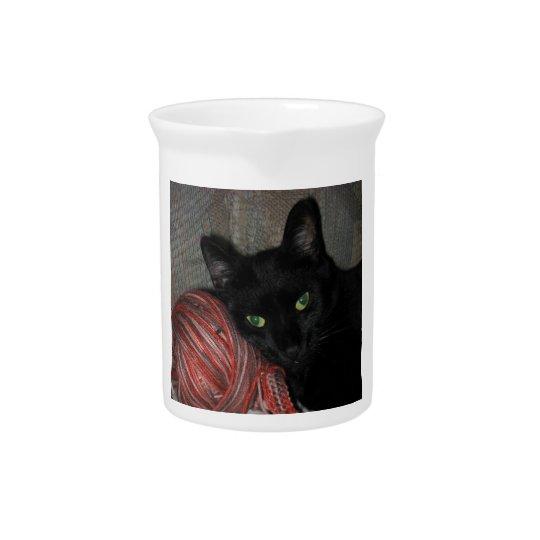 Halloween Black Cat Pitcher