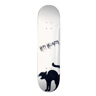 Halloween Black Cat Silhouette Custom Skate Board