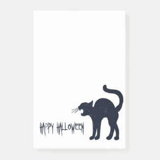 Halloween Black Cat Silhouette Post-it Notes