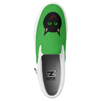 Halloween Black Cat Slip On Shoes Printed Shoes