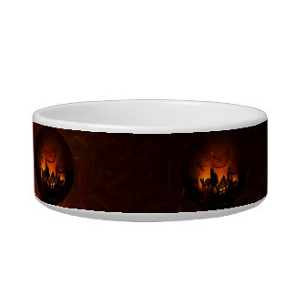 Halloween Black Cat with Luminaries and Bats Bowl