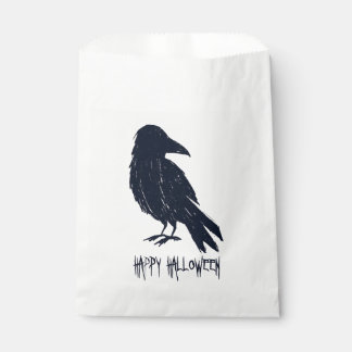 Halloween Black Crow Silhouette Favour Bag