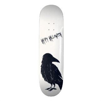 Halloween Black Crow Silhouette Skateboard Deck