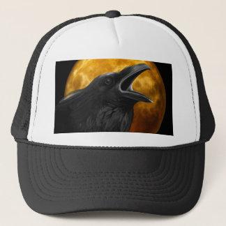 Halloween Black Crow Trucker Hat