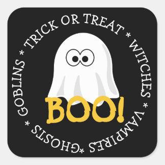 Halloween Black Ghost Boo Sticker