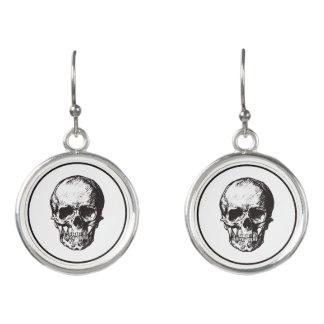 HALLOWEEN Black Gothic Skull Design Earrings