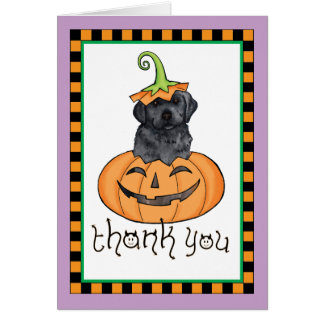 Halloween Black Lab Thank You Card
