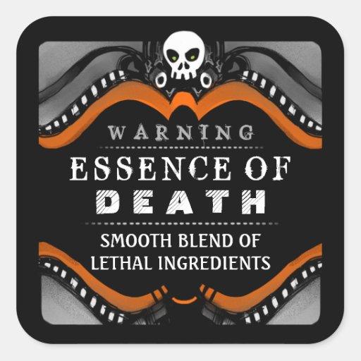 Halloween Black Orange White Drink or Treat Label Stickers