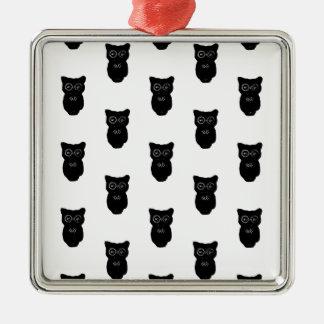 Halloween Black Owls Pattern Ornaments