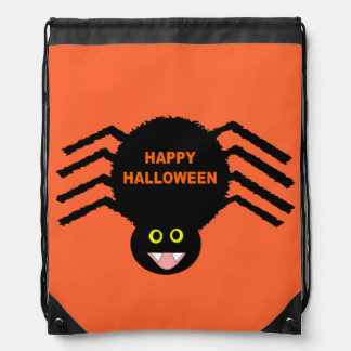 Halloween Black Spider Backpack