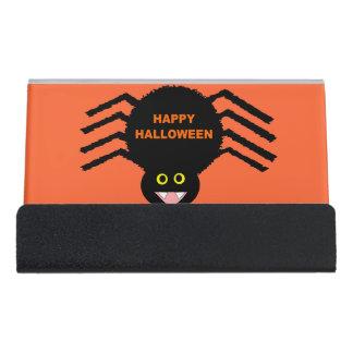 Halloween Black Spider Business Card Holder