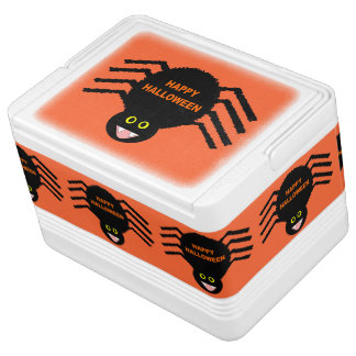 Halloween Black Spider Can Cooler