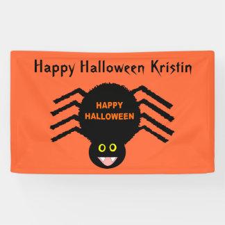 Halloween Black Spider Custom Banner