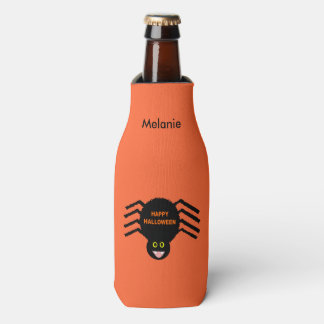 Halloween Black Spider Custom Bottle Cooler