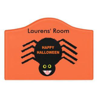 Halloween Black Spider Custom Room Sign