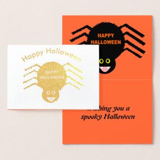 Halloween Black Spider Foil Card