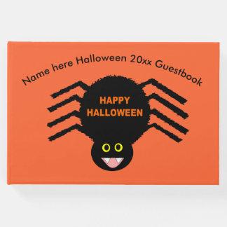 Halloween Black Spider Guestbook