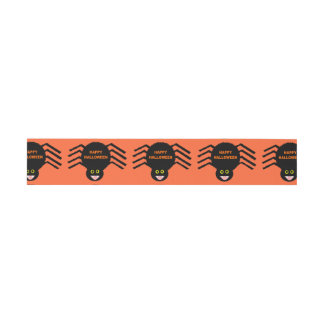 Halloween Black Spider Invite Belly Bands Invitation Belly Band